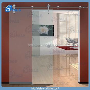 Single Panel Sliding Glass Door Frosted Tempered Glass Sliding