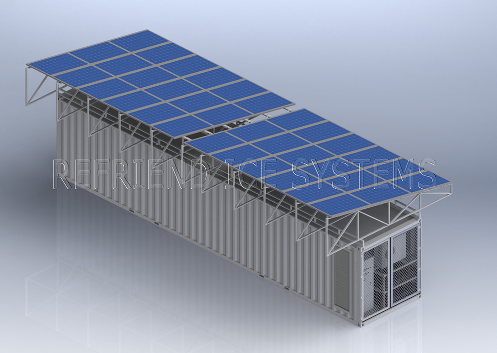 L 39 nergie solaire 40ft conteneurmoto chambre froide for Chambre container