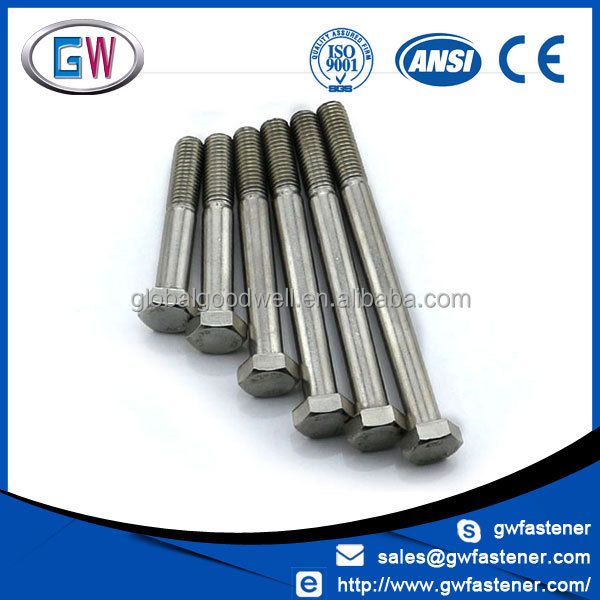 Factory price A4 70 stainless steel 316 bolt passivated