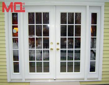 Weiß Pvc Schalldicht American Style Billiges Glas Haustüren Modell