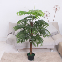 High quality artificial fake combined mini fan palm tree for hotel decoration