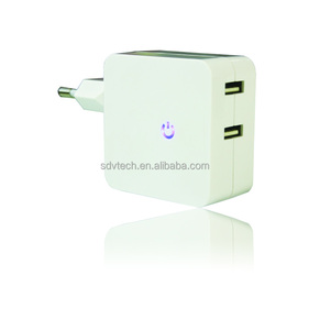 5V4.8A Dual usb wall charger eu plug 2 ports home charger for iphone for samsung mobile phone charger travel adapter