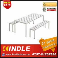 Economy customized modern metal garden bench and table with 31 years experience from Kindle