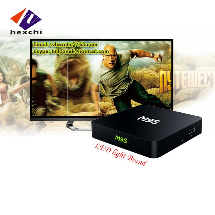 Canales turcos IP TV box M9S WiFi incorporado M9S TV box con 4 Alta Velocidad USB 2.0 leadcool IPTV árabe IPTV Android TV box M9S