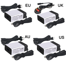 PSU US EU UK AU Plug IEC C6 socket 45W USB Type C Lader Snel Opladen <span class=keywords><strong>Power</strong></span> Adapter