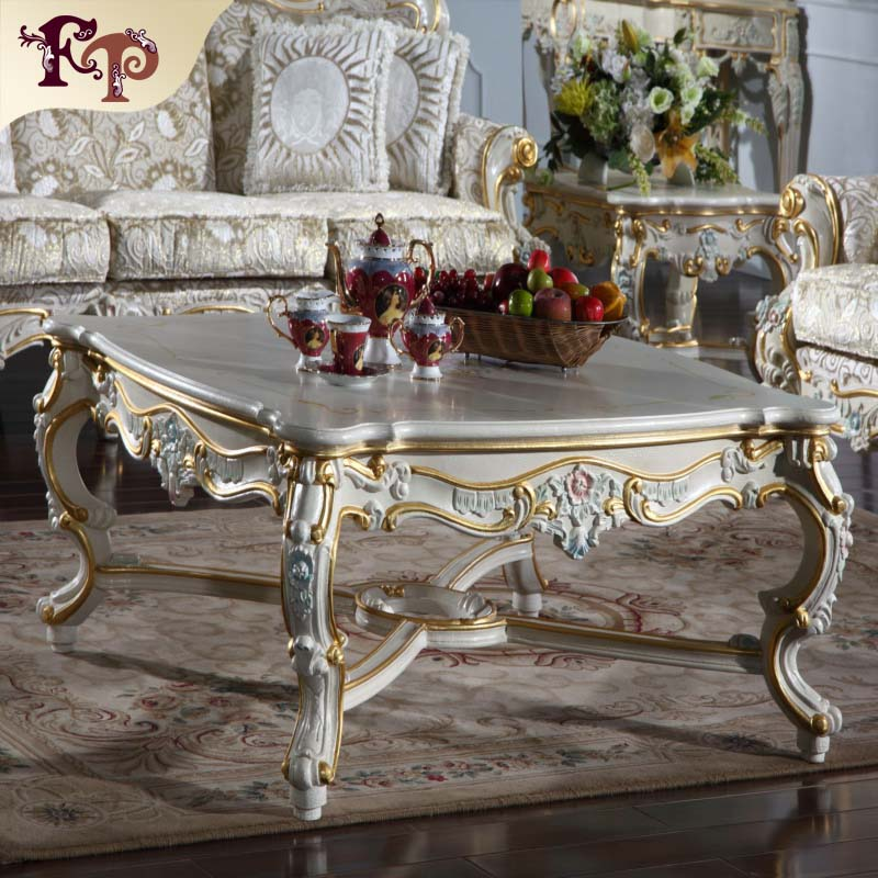 Clic Europe Royal Style Furniture And Solid Wood Living Room Square Coffee Table