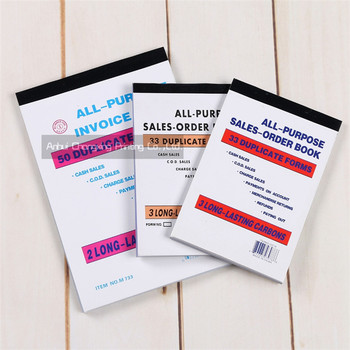 All-purpose Sales-order Book Invoice Book Custom Cash Receipt Book ...