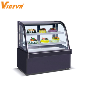 Bakery Showcase Curved Glass Cake Showcase Mini Cake Display Countertop Refrigerated Cooler Freezer Refrigerator