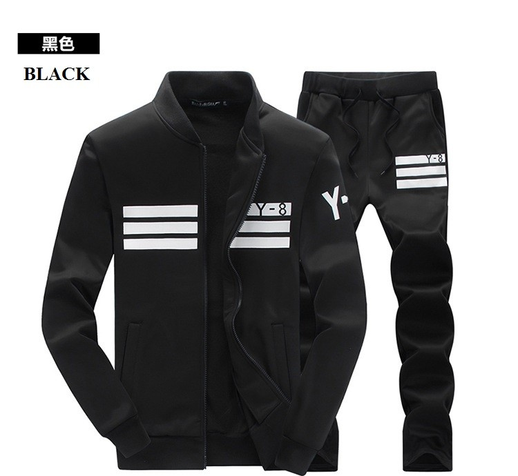 New Design Quality Young Men Training Athletic Clothes Sets Sports Leisure Wear
