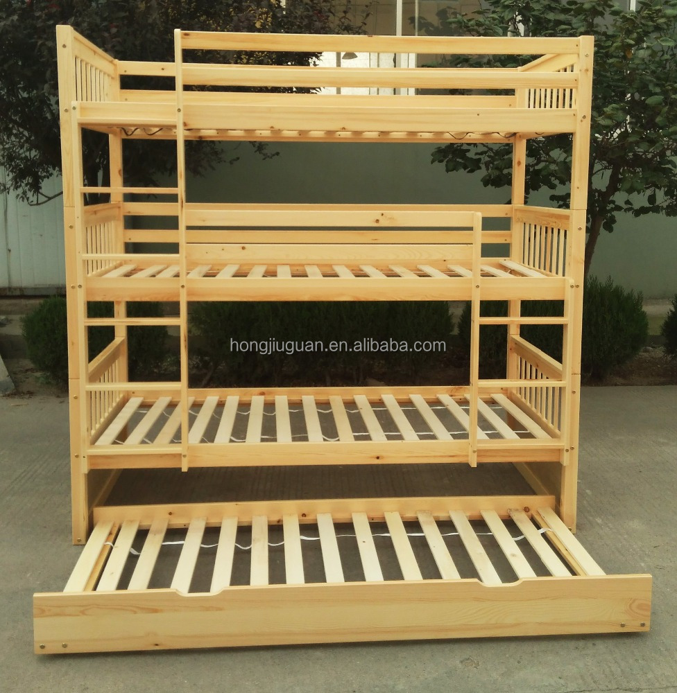 3 Tier Bunk Bed Triple With Trundle Product On Alibaba
