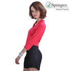red clothes 2018 new arrivals shirts for women