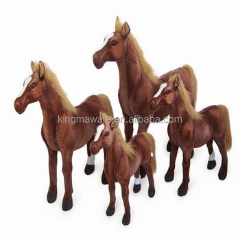 Realistic Plush Standing Horse Lifesize Plush Thoroughbred Horse