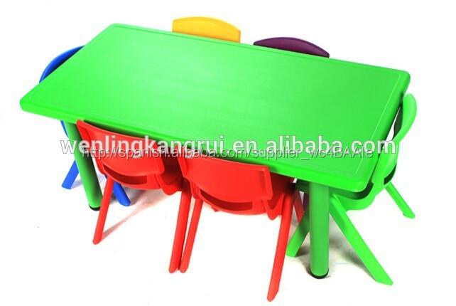 Fasion nuevo los ni os de pl stico rect ngulo de mesa para for Mesas infantiles de plastico