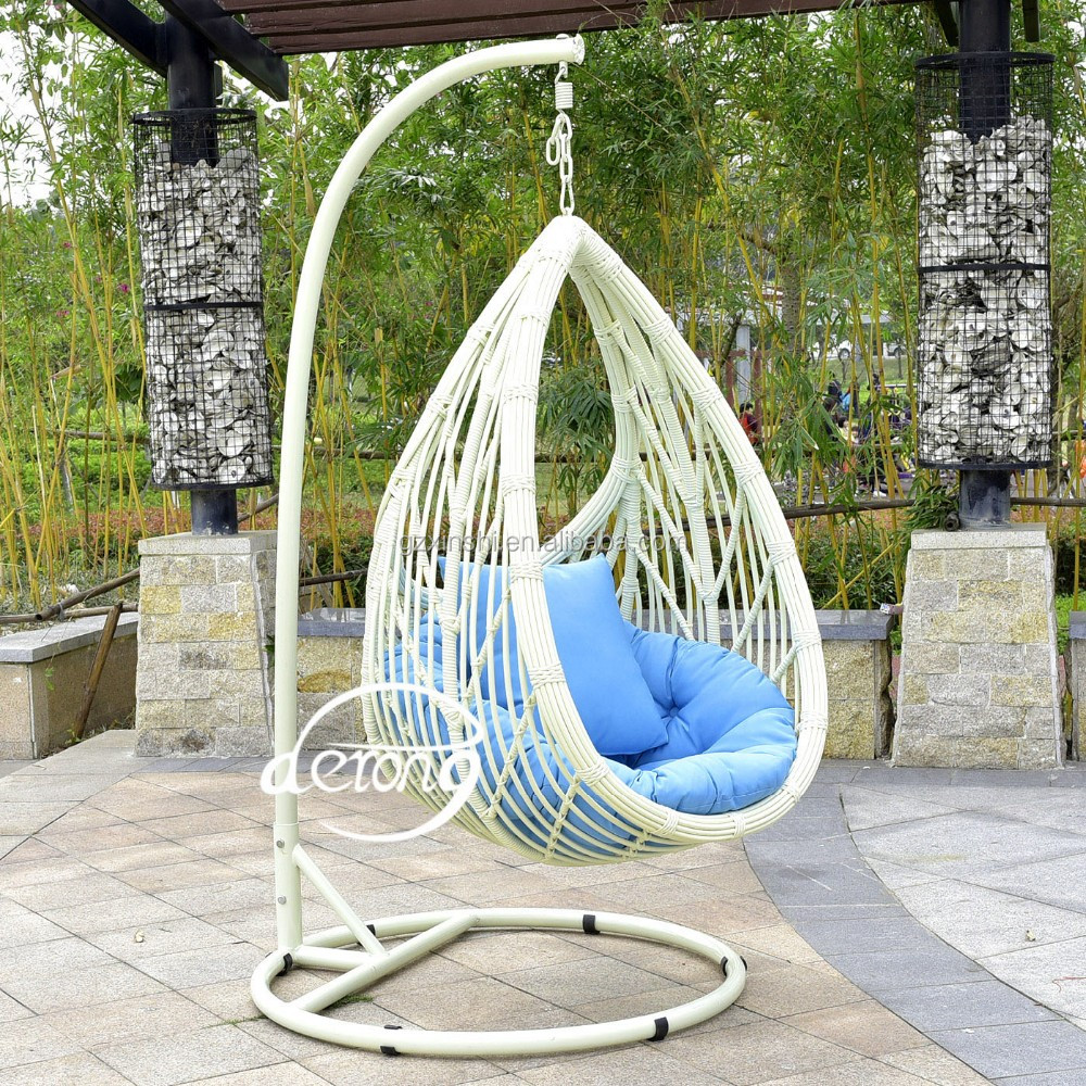 Asian Hotel Village Style Resort Outdoor Egg Hanging Chair Swing Garden Hanging  Chair