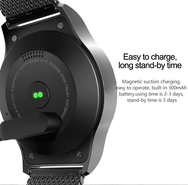 SMA ROUND Bluetooth Smart Watch Phone Compatible IOS Android With SDK/API