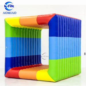 Popular Outdoor Interactive Inflatable Flip It Gira Cube Sports Game for Sale