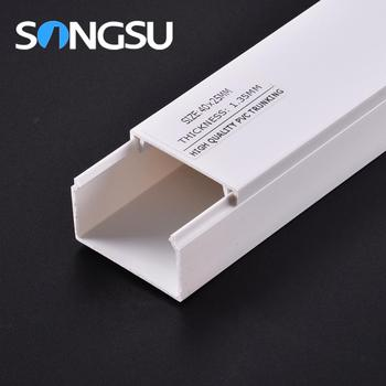 Full Sizes Electrical Pvc Trunking For Conduit Cable And Wiring Buy Electric Wire And Cable Trunking White Pvc Trunk Size Pvc Electrical Trunking Product On Alibaba Com