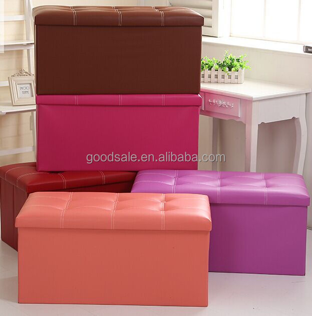 Pu Leather Storage Ottoman, Pu Leather Storage Ottoman Suppliers and ...