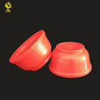 Hot selling red disposable plastic salad bowl