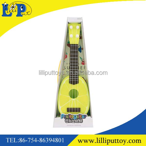 Lovely musical cute pattern plastic fruit guitar toy