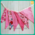 Colorful cheap fabric flag bunting for party