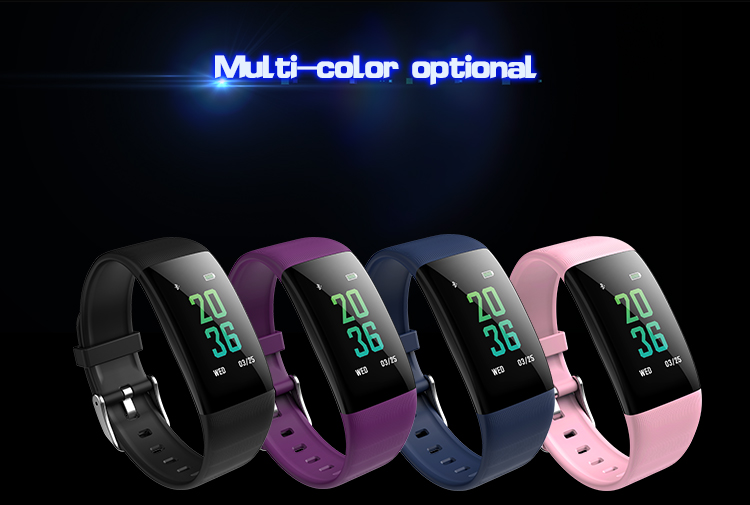 B33 Heart Rate Blood Pressure Blood Oxygen Movement Call remind Smart Bracelet Interface