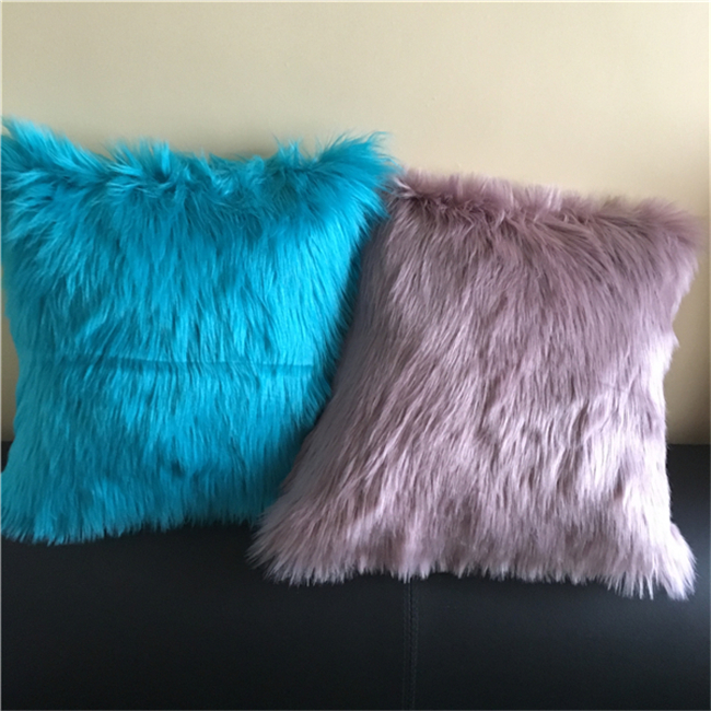Home Decor Faux Fur Sofa Cushion Cover