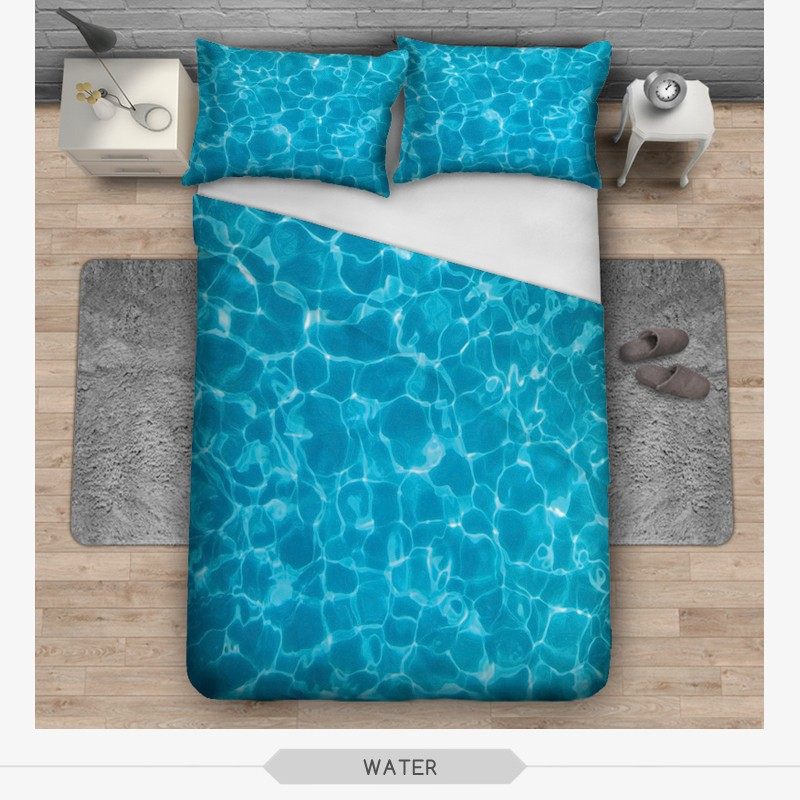 Digital Sublimation Home Decor Red Across Print Hotel Bed Sheet