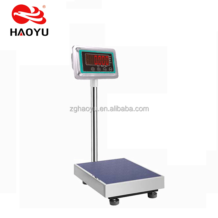 HY T8 Ironwork Frame TCS electronic platform scale 300kg stainless steel indicator bigger display Common Load Cell