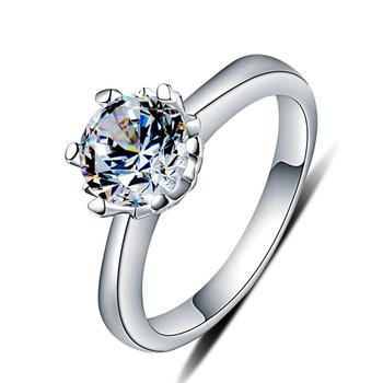 925 Sterling Silber Koreanische Hochzeit Ringe Kunstliche Finger