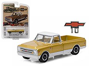 1968 Chevrolet C-10 Anniversary Gold Chevy Trucks 50th Anniversary Collection 1/64 Model Car by Greenlight