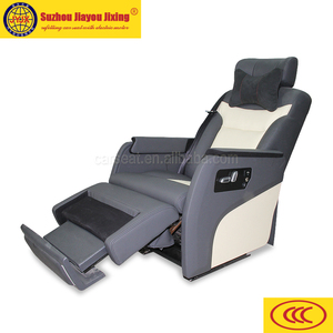Business car seat with electric footrest for van