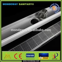 wood door steel plate flame cutting luxury storm water shower run drain channel