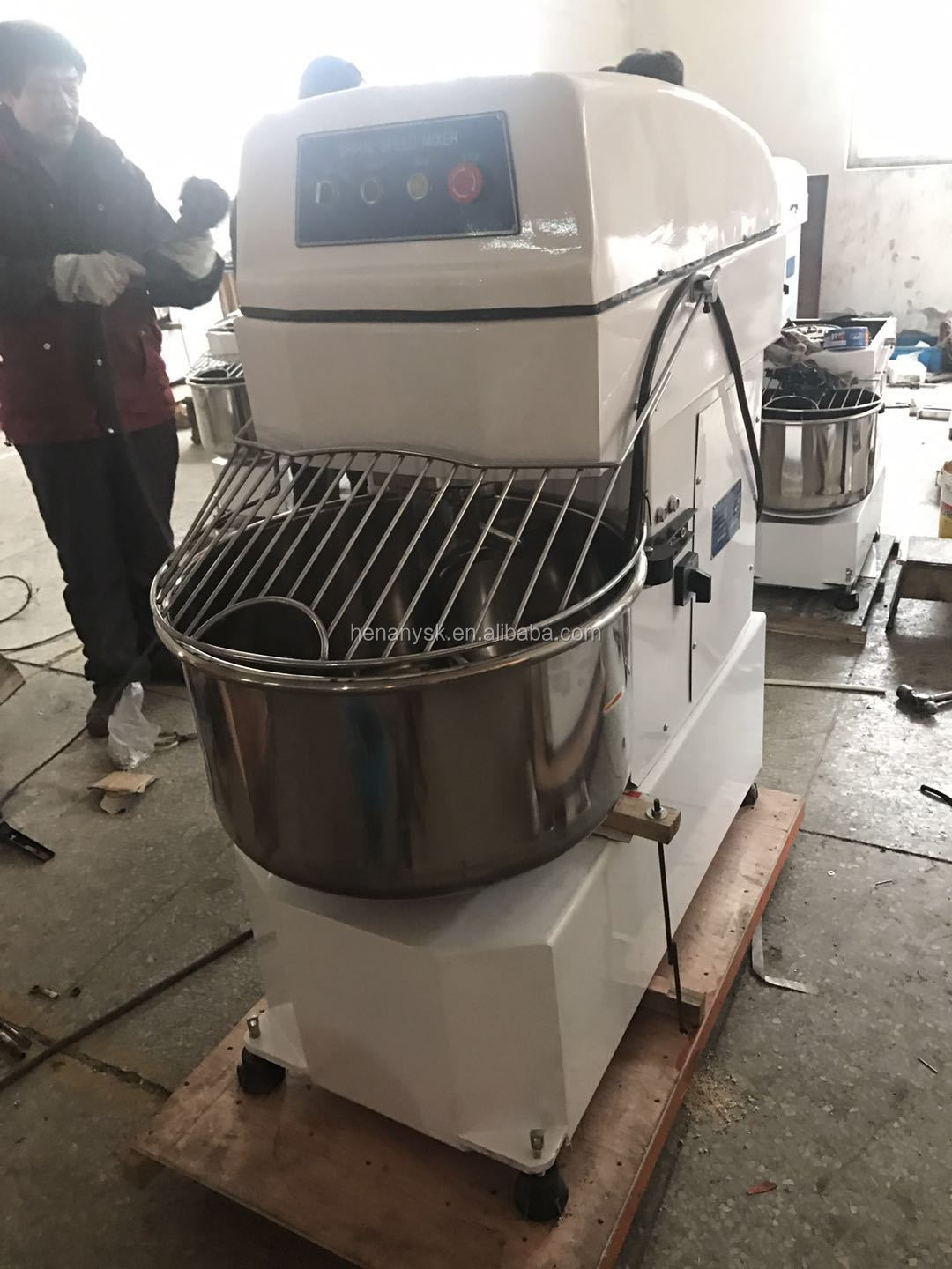 80L 35kg Commercial Flour Powder 2 Speed Spiral Dough Mixer Egg Mixing Machine Dough Mixer