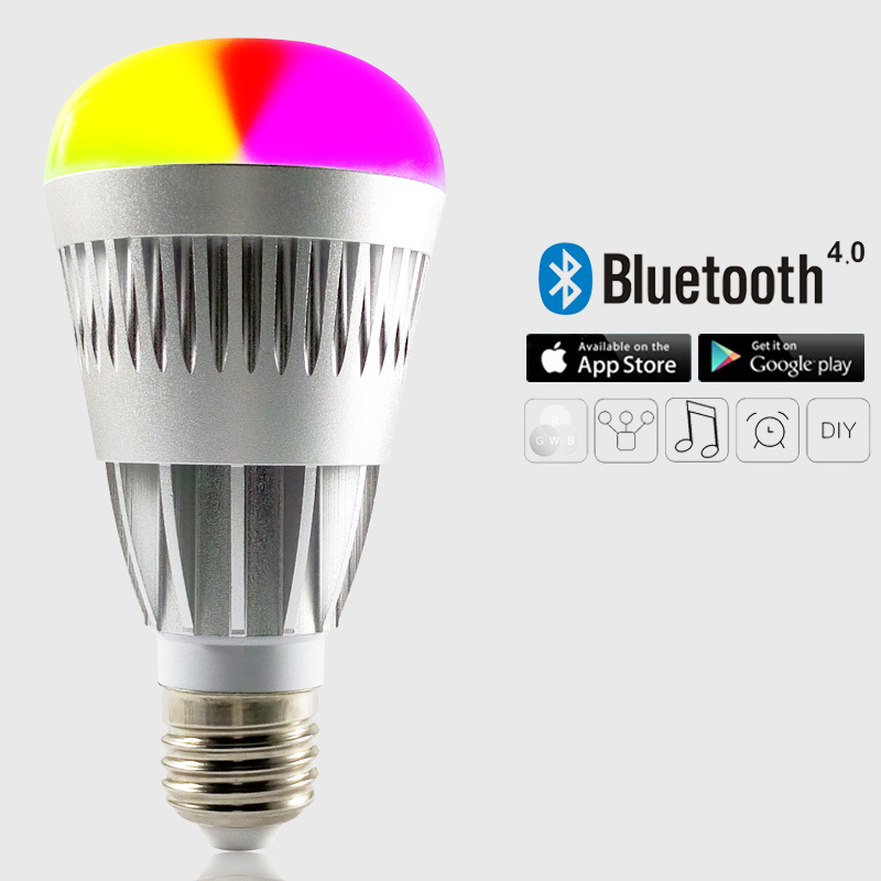E26 E27 7w Bluetooth 4.1 Mesh Led Bulb,Dimmable Color Changing ...