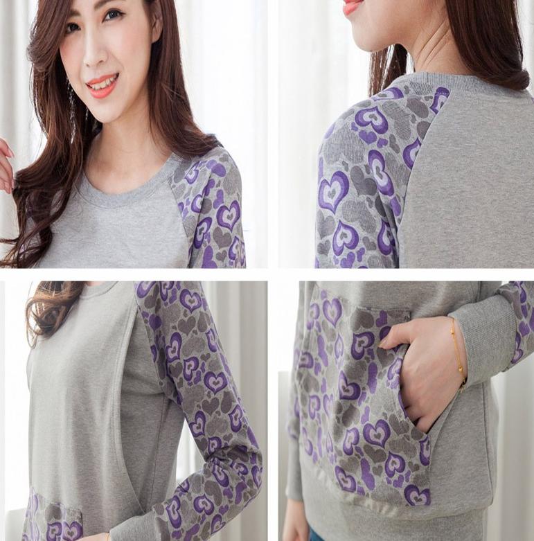 db8dd26581f Maternity Nursing top Fashion Warming Long Sleeve Maternity Clothes Breast  feeding Tops T-shirt for