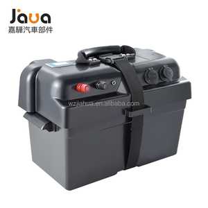 Jiahua plastic pp waterproof 12v auto car outdoor marine large boat solar camping battery box