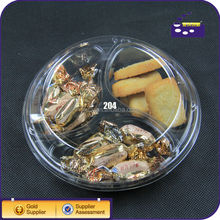 plastic compartment tray with lid