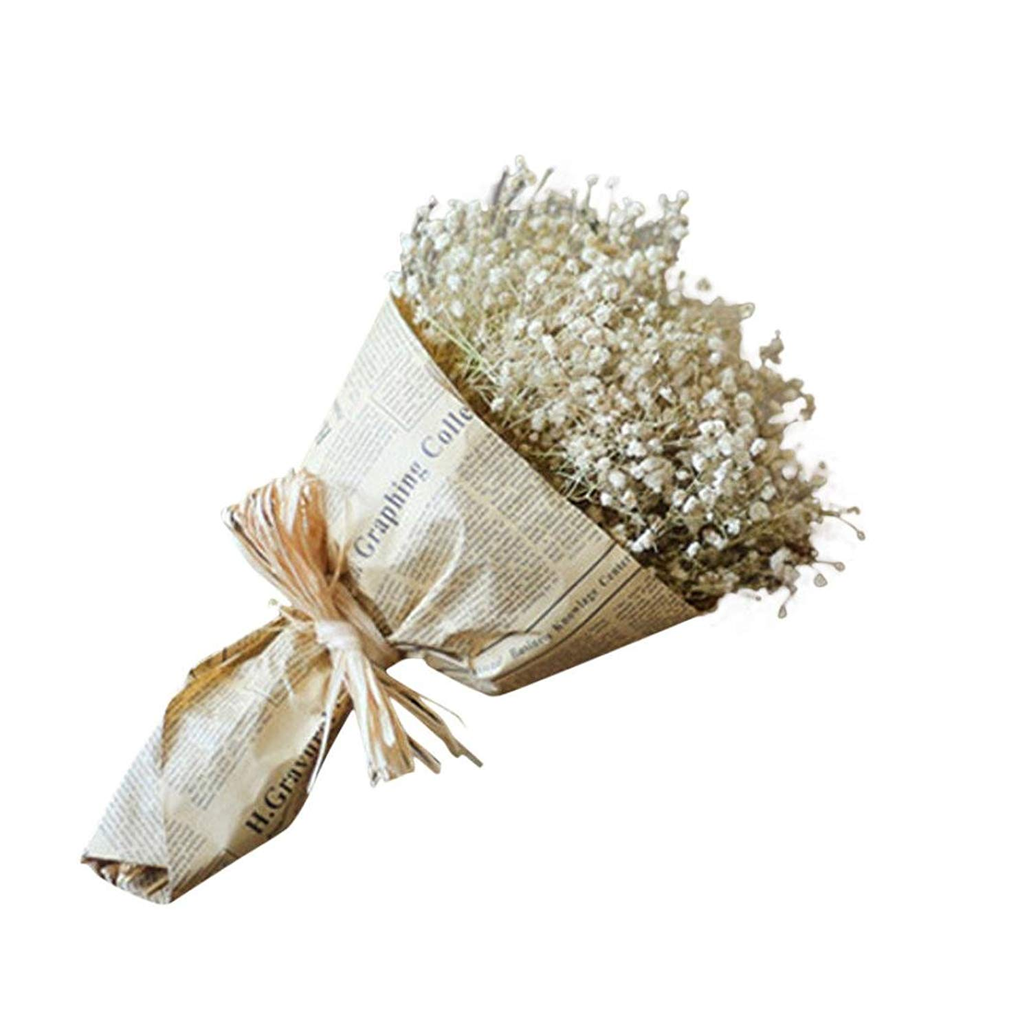 Mchoice Natural Dried Flower Baby's Breath Home Decor Natural Dried Flower Full Stars Gypsophila