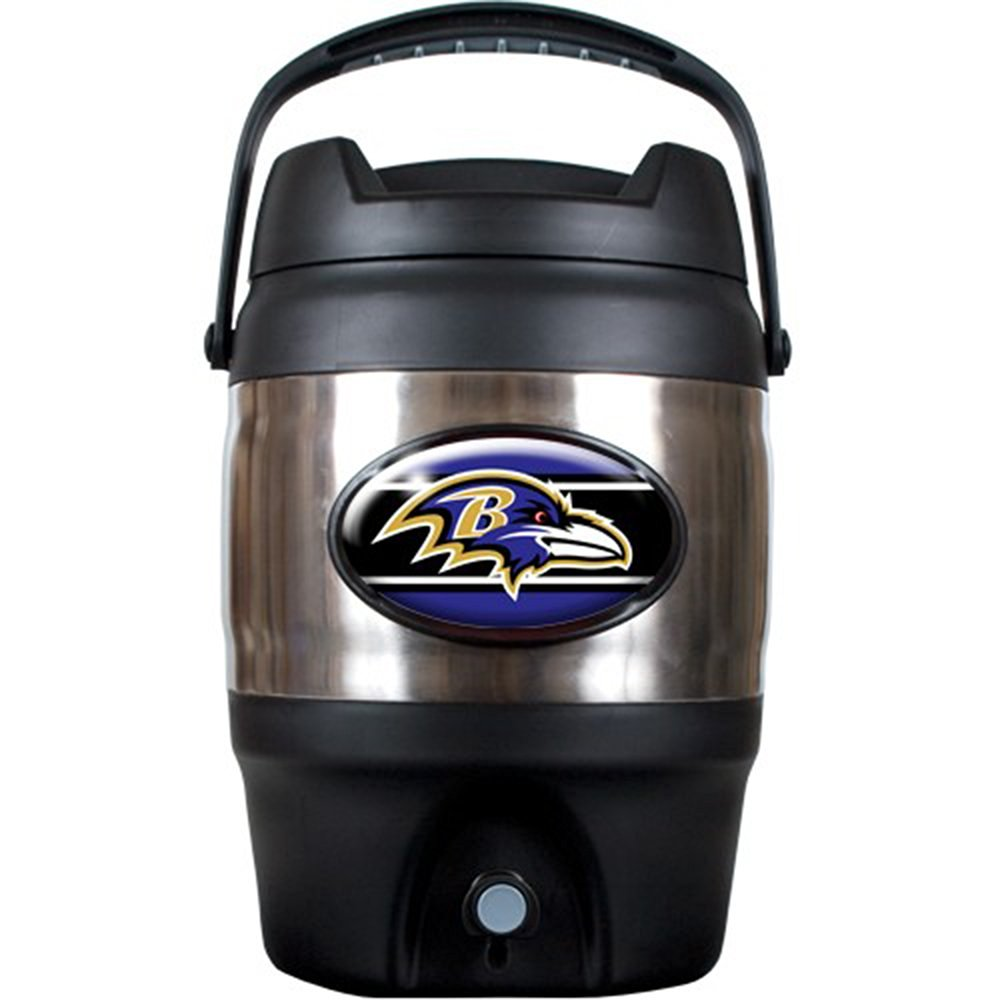 NFL Baltimore Ravens Stainless Steel Tailgate Jug, 3-Gallon