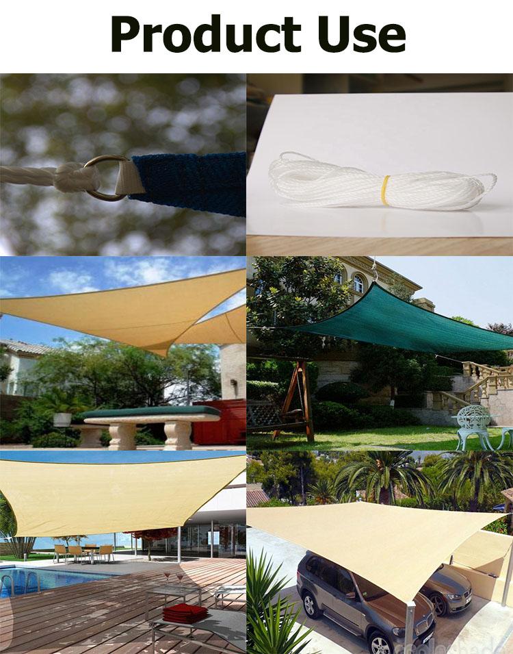 Hdpe sonnensegel tuch wasserdichte segel schatten auto parkplatz sonnensegel