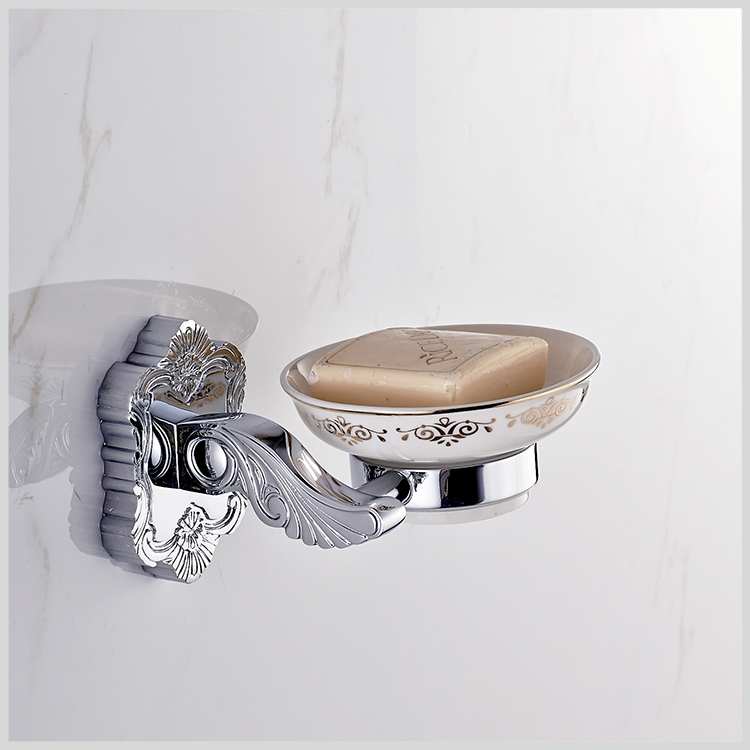 Art Carving Household Hotel Bathroom Accessories Wall Mounted Chrome Finished Brass Soap Dish BM15259D Soap Holder