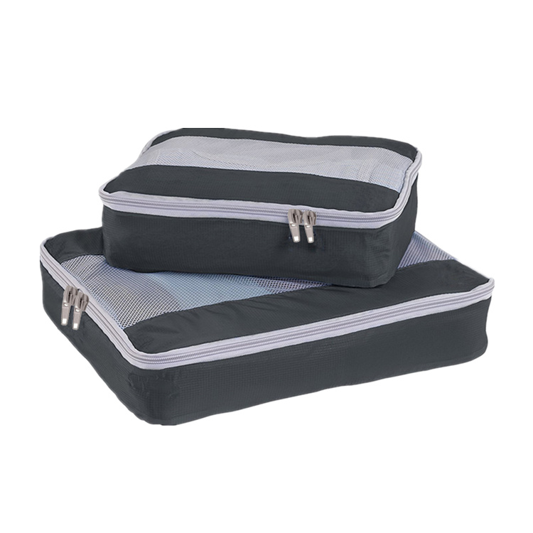 2 Pieces Sets Travel Packing Luggage Organizer Compression Laundry Toiletry Bag Lightweight Durable Bags Pouches Packing Cubes