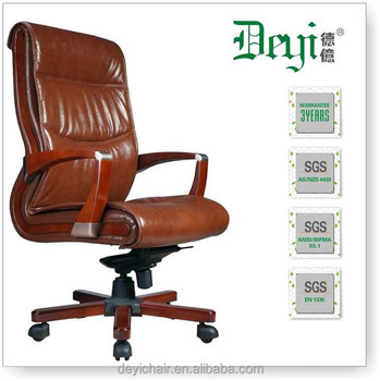 Hot Red Leather Chair 619 B Por High Back Executive Office