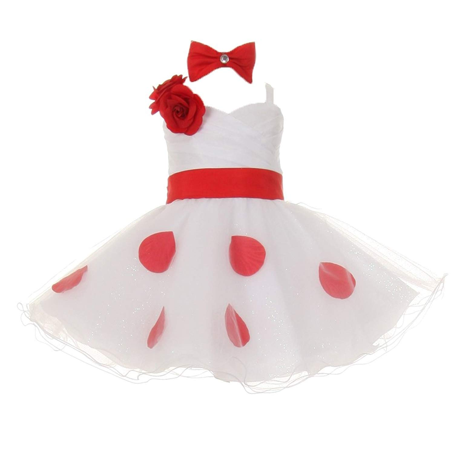 Cheap Red And White Flower Girl Find Red And White Flower Girl
