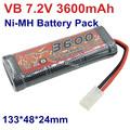 Rechargeable Original VB Power SC 7 2v 3600mAh Ni MH Battery Pack 0 2C 30A Tamiya