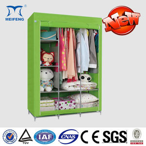 Modern Portable Folding Fabric Canvas Clothes Closet Celebrity Wardrobe Malfunction