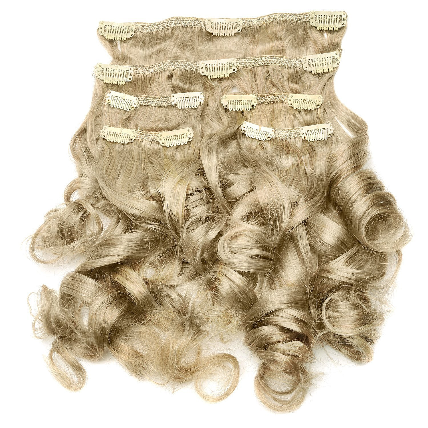 e3786cf5c21 Buy Beauty Queen Hair Extensions Pre-Curled 20 Inch (Makeover Set ...