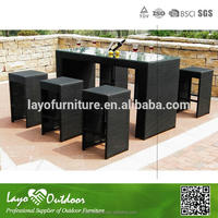 Approval Overseas Factory audit deck conversational furniture bar height outdoor dining set
