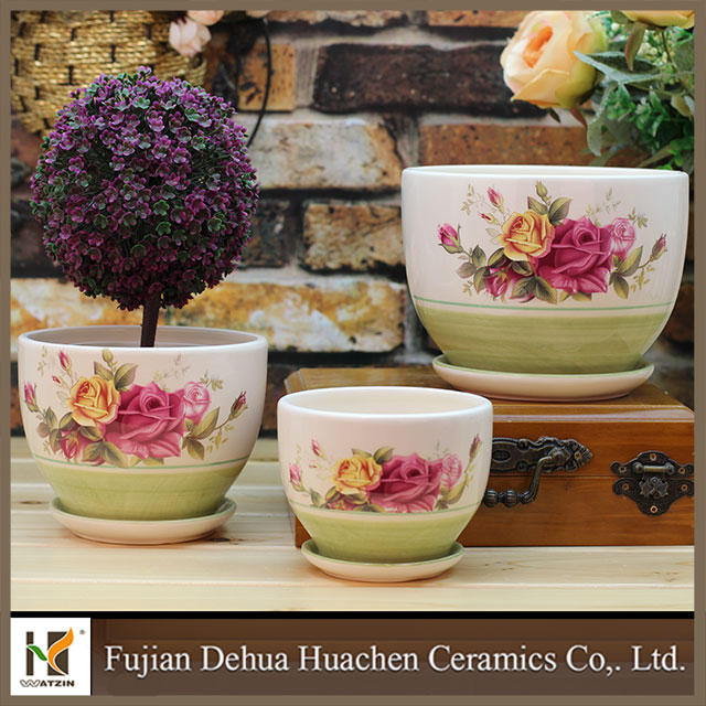 3pcs Garden Pot Sets Cup And Saucer Ceramic Planter Buy Cup And